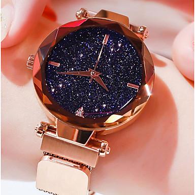 levne Dámské-Dámské Křemenný Diamond Watch Na běžné nošení Módní Astronomický Černá Modrá Fialová Nerez Křemenný Černá Fialová Růžové zlato Voděodolné Hodinky na běžné nošení Cool 30 m 1 ks Analogové