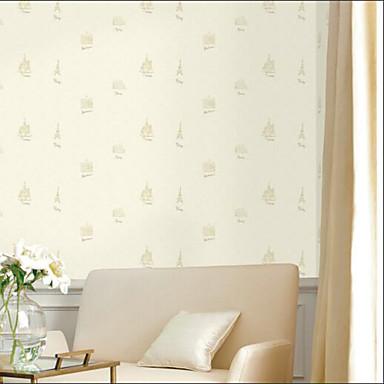povoljno Ukrašavanje zidova-Zidna tkanina Netkani Zidnih obloga - Ljepila potrebna Cvjetni print / Art Deco / 3D