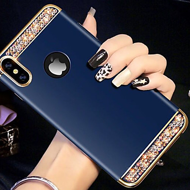 povoljno iPhone maske-Θήκη Za Apple iPhone XS / iPhone XR / iPhone XS Max Štras Stražnja maska Umjetno drago kamenje Tvrdo Opeka