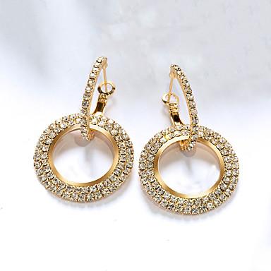 povoljno Modne naušnice-Žene Sintetički dijamant Sitne naušnice vjerovati Stilski Luksuz Pozlaćeni Pozlata od crvenog zlata Naušnice Jewelry Crn / Bijela / Rose Gold Za Party Dar Spoj 1 par