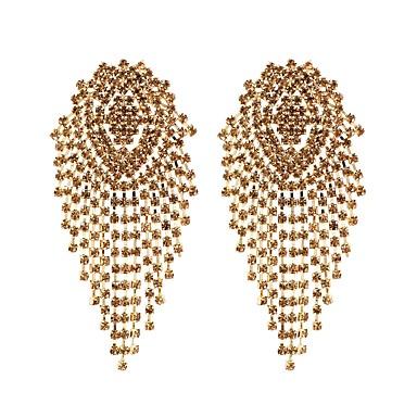 preiswerte Quasten Ohrringe-Damen Tropfen-Ohrringe Elegant Diamantimitate Ohrringe Schmuck Silber / Gelb / Grün Für Hochzeit Party Ausgehen Klub 1 Paar