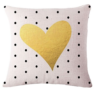 cheap Pillow Covers-1 pcs Cotton / Linen Pillow Cover, Geometric Geometric Pattern Patterned Modern