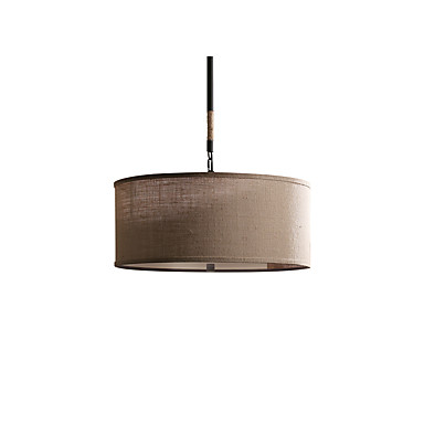 trommel anheng lys omgivende lys linjene rundt anheng lampe amerikansk landsbygda hamp tau lysekrone jern og sengetøy 5-lys