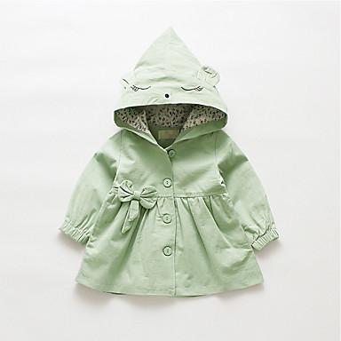 preiswerte Oberbekleidung für Babys-Baby Mädchen Grundlegend Solide Standard Baumwolle Trenchcoat Grün