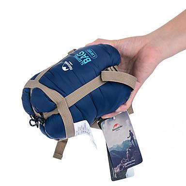 cheap Camping, Hiking & Backpacking-Naturehike Mini-Ultralight Sleeping Bag Outdoor Camping Envelope / Rectangular Bag 15 °C Single Imitation Silk Cotton Portable Mini Rain Waterproof Warm Ultra Light (UL) Compression 190*75 cm Spring