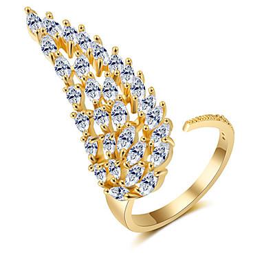 billige Motering-Dame Åpne Ring Micro Pave Ring Kubisk Zirkonium 1pc Gull Sølv Rose Kobber Kunstnerisk Mote Fest Engasjement Smykker