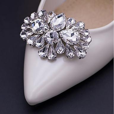 cheap Foot/Shoe Accents-2pcs Glasses / Rhinestones Decorative Accent Women's All Seasons Wedding / Birthday Silver / Bowknot