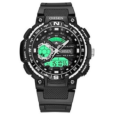 levne Pánské-OHSEN Pánské Digitální hodinky Digitální Pryž Černá 50 m Voděodolné Kalendář Chronograf Analog - Digitál Na běžné nošení Módní - Oranžová Červená Modrá