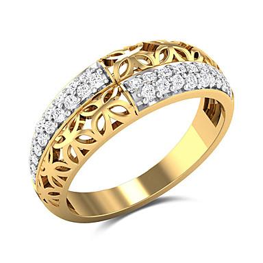 billige Statement Ringe-Dame Statement Ring Ring Kubisk Zirkonium 1pc Gul Kobber Gullbelagt Geometrisk Form Statement Stilfull Luksus Bryllup Fest Smykker Blomst Søtt
