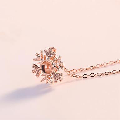 0e8f3b4ca01b Mujer Collares con colgantes Oro rosa Titanio Acero Plata Oro Rosa 41+6 cm  Gargantillas Joyas 1pc Para Boda Diario 7159668 2019 –  9.99