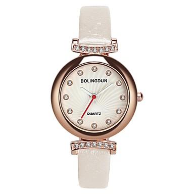 levne Dámské-Dámské Náramkové hodinky Klasické Módní Černá Červená Růžová PU kůže čínština Křemenný Rubínově červená Světlá růžová Tmavě námořnická Diamant Hodinky na běžné nošení 30 m Analogové Jeden rok