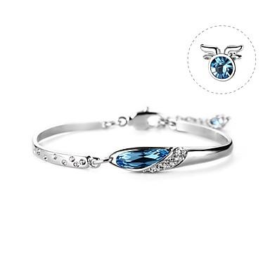 levne Dámské šperky-Dámské Tmavě modrá Křišťál High End Crystal Náramek Křišťálový náramek Geometrické Kozoroh Jednoduchý korejština Módní Cute Style Elegantní Slitina Náramek šperky Modrá Pro Narozeniny Dar Miláček