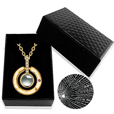 levne Pánské šperky-Pánské Dámské Náhrdelníky s přívěšky Nerezové Stříbrná Růžové zlato 46 cm Náhrdelníky Šperky 1ks Pro Dar Denní