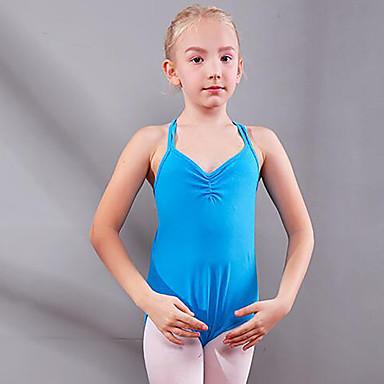 baae74737 Ropa de Baile para Niños / Ballet Leotardos Chica Entrenamiento /  Rendimiento Algodón Fruncido Sin Mangas Cintura Media Leotardo / Pijama  Mono 7214376 2019 ...