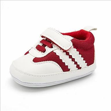 voordelige Babyschoenentjes-Jongens Comfortabel PU Sneakers Peuter (9m-4ys) Grijs / Rood / Blauw Lente zomer