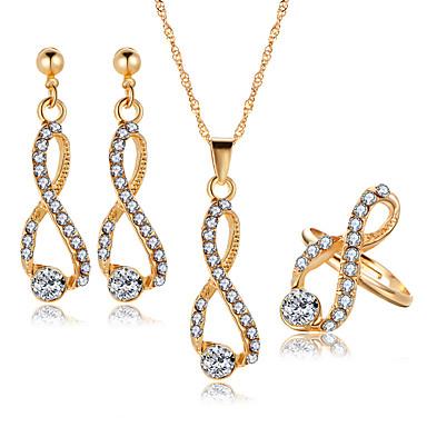 43808a3a39c3 Mujer Cristal Crossover Conjunto de joyas infinito Lujo