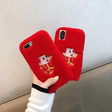 povoljno iPhone maske-Θήκη Za Apple iPhone XS / iPhone XR / iPhone XS Max Otporno na trešnju Stražnja maska Jednobojni Mekano Tekstil