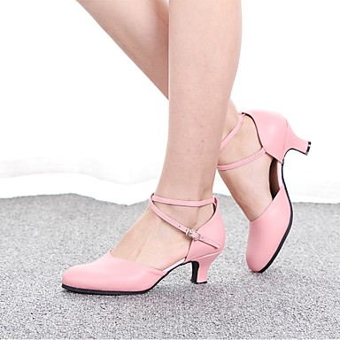 cheap Ballroom Shoes & Modern Dance Shoes-Women's Modern Shoes / Ballroom Shoes EVA(ethylene-vinyl acetate copolymer) Heel Thick Heel Customizable Dance Shoes Black / Gold / Red / Practice