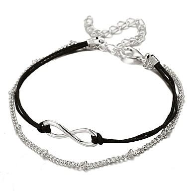 levne Dámské šperky-Dámské Řetězové & Ploché Náramky Vícevrstvé stylové Moderní Slitina Náramek šperky Stříbrná Pro Dar Street