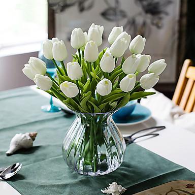 cheap Artificial Flowers & Vases-Artificial Flower Plastic European Bouquet Tabletop Flower Bouquet 10