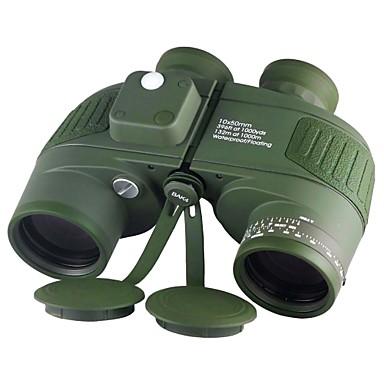 Boshile 10 X 50 mm Kikare Objektiv Vattentät Tak Prism Nattvision i lågt ljus Full multibeläggning BAK4 Nattseende Metall / IPX-7 / Ja