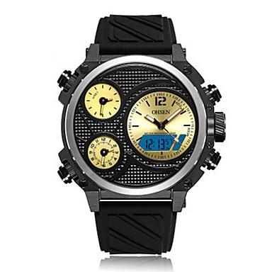 levne Pánské-OHSEN Pánské Digitální hodinky japonština Digitální Silikon Černá / Bílá / Červená 50 m Voděodolné Kalendář Chronograf Analog - Digitál Na běžné nošení Módní - Žlutá Červená Modrá