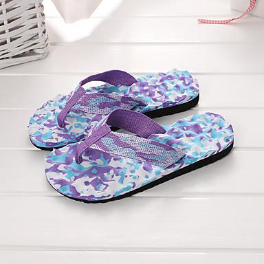 voordelige Damespantoffels & slippers-Dames / Unisex Canvas Zomer Slippers & Flip-Flops Platte hak Blauw / Roze / Zwart / blauw