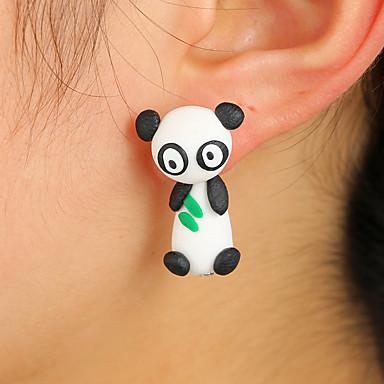 levne Dámské šperky-Dámské Náušnice Oboustranné náušnice Panda Zvíře Cute Style Pro děti Náušnice Šperky Černobílá Pro Denní Rande 1 Pair