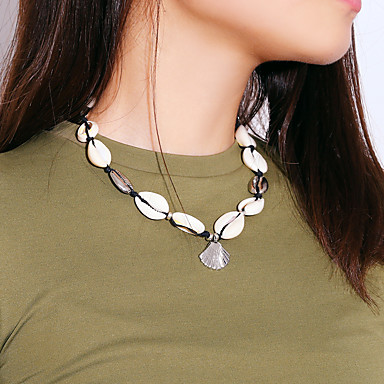 povoljno Modne ogrlice-Žene Ogrlice s privjeskom Tropical Krom Školjka Zlato Pink 35 cm Ogrlice Jewelry 1pc Za Vjenčanje Rođendan Angažman Klub Bikini