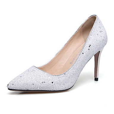 a2d7fd443 Women's Faux Leather Spring & Summer Wedding Shoes Stiletto Heel Pointed  Toe White / Purple / Pink / Party & Evening 7174067 2019 – $69.99