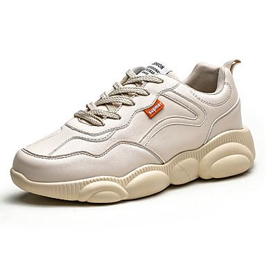 Ανδρικά Φως πέλματα PU Ανοιξη καλοκαίρι Αθλητικό Αθλητικά Παπούτσια Μαύρο / Λευκό / Μπεζ