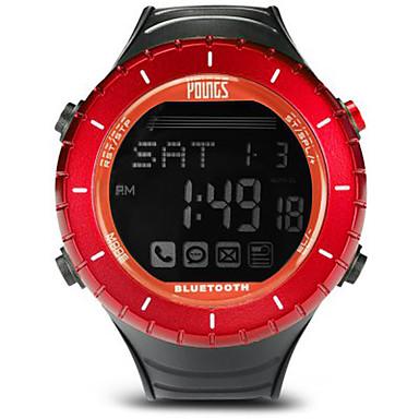 levne Dámské-Dámské Sportovní hodinky Outdoor Módní Černá Pryž japonština Digitální Rubínově červená Voděodolné Smart Bluetooth 100 m 1 sada Digitální Jeden rok Životnost baterie / LCD / Panasonic CR2032