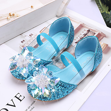 cheap For ages 9 mos.-4 yrs.-Girls' Comfort / Flower Girl Shoes PU Flats Toddler(9m-4ys) / Little Kids(4-7ys) Sequin / Sparkling Glitter / Hollow-out Silver / Blue / Pink Spring / Summer / Party & Evening / Rubber