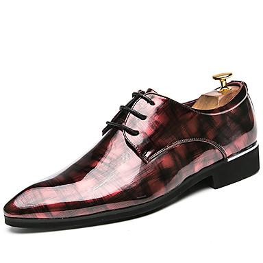 สำหรับผู้ชาย รองเท้าอย่างเป็นทางการ Synthetics ฤดูใบไม้ผลิ / ตก ธุรกิจ / ไม่เป็นทางการ รองเท้า Oxfords ไม่ลื่นไถล สีดำ / สีเขียว / แดง / พิมพ์ Oxfords / ใส่รองเท้า