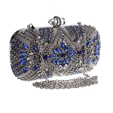 cheap Clutches & Evening Bags-Women's Bags Acrylic / Alloy Evening Bag Buttons Crystals for Party / Event / Party / Daily Silver / Wedding Bags