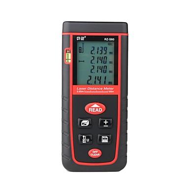 levne Vodováhy-RZ® RZ-S60 0-60m Laserový snímač vzdálenosti Ruční design / Snadné používání / Podsvícený displej pro inteligentní domácí měření