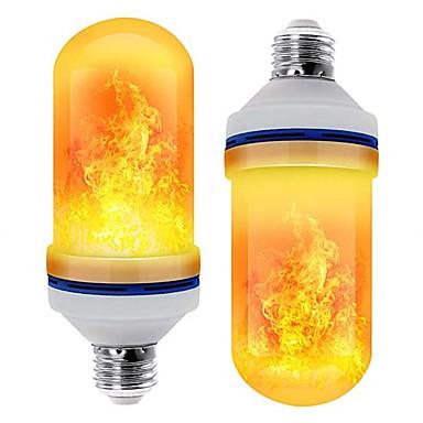 preiswerte LED-Kolbenlichter-led e26 e27 mais lichter flammeneffekt led perlen smd 2835 simuliert natur feuer licht mais lampen flamme flackern weihnachtsdekoration rohs 2 stücke