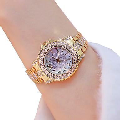 levne Dámské-Dámské Křemenný zlaté hodinky Klasické Módní Stříbro Zlatá Slitina Swiss Křemenný Zlatá Stříbrná Chronograf 30 m 1 ks Analogové Dva roky Životnost baterie
