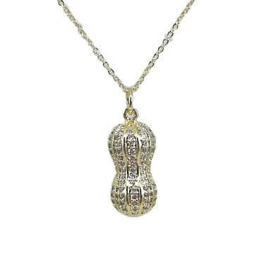 levne Dámské šperky-Dámské Bílá Perla Náhrdelníky s přívěšky Náušnice Náhrdelník Náhrdelník umělecké Jedinečný design Klasické Sladký Perly Zirkon 24K Gold Plated Zlatá 46 cm Náhrdelníky Šperky 1ks Pro Obřad Nový Rok