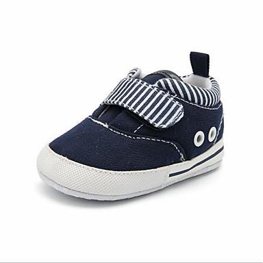 levne Dětské botičky-Chlapecké První botičky Bavlna Tenisky Batole (9m-4ys) Bílá / Modrá Jaro