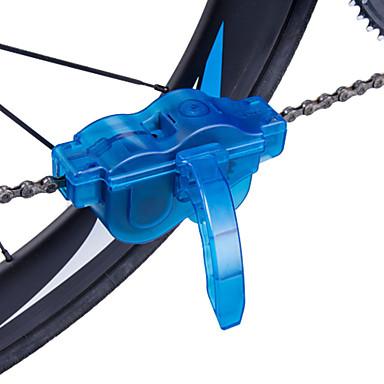billige Sykkeltilbehør-Børste til kjederensing Rengjøringsett Bike Repair Tools Roterende rengjøringsutstyr 360 graders roterende børster Enkel å vedlikeholde Vask Praktiskt Til Vei Sykkel Fjellsykkel Sykkel med fast gir