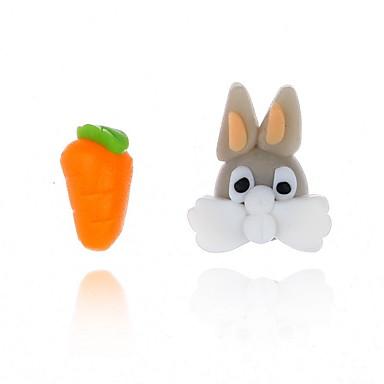 levne Dámské šperky-Dámské Náušnice Mix náušnic Rabbit Zvíře Mrkev Cute Style Pro děti Náušnice Šperky Oranžová Pro Rande 1 Pair