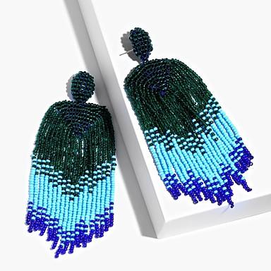 preiswerte Quasten Ohrringe-Damen Tropfen-Ohrringe Glasperlen Böhmische Ohrringe Schmuck Rot / Grün / Blau Für Hochzeit Bühne Abiball Klub Bar 1 Paar