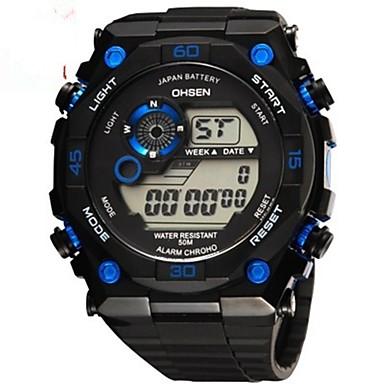 levne Pánské-OHSEN Pánské Digitální hodinky Digitální Pryž Černá 50 m Voděodolné Kalendář Chronograf Analog - Digitál Na běžné nošení Módní - Žlutá Zelená Modrá