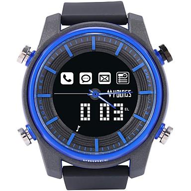 levne Dámské-Pro páry Digitální hodinky japonština Digitální Pryž Černá 100 m Voděodolné Bluetooth LCD Analog - Digitál Na běžné nošení Módní - Modrá Jeden rok Životnost baterie