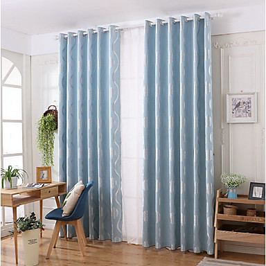 [$49.67] Contemporary Privacy One Panel Curtain Living Room Curtains /  Jacquard