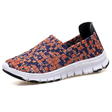 590d41c2790 Women s Elastic Fabric Fall Loafers   Slip-Ons Flat Heel Orange   Yellow    Black