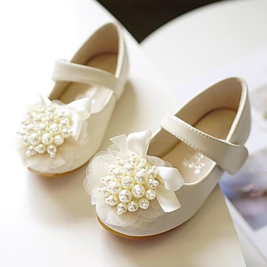 57ce7f34c5e39 [$24.99] Girls' Microfiber Flats Toddler(9m-4ys) / Little Kids(4-7ys)  Comfort / Flower Girl Shoes Pearl / Flower Light Pink / Ivory Spring / Fall  / ...