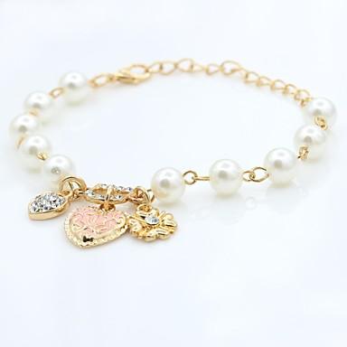 levne Dámské šperky-Dámské Korálkový náramek Boncuklar korejština Cute Style Elegantní Napodobenina perel Náramek šperky Zlatá Pro Párty Zásnuby Dar Jdeme ven Miláček