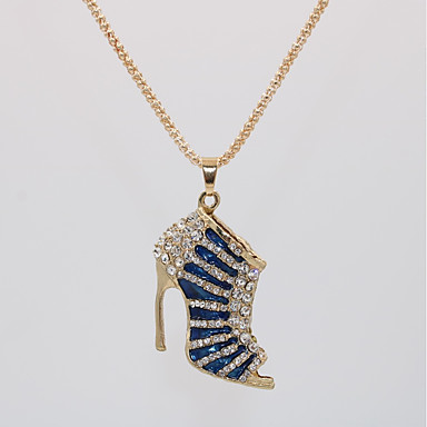 povoljno Modne ogrlice-Žene Ogrlice s privjeskom Duga ogrlica Geometrijski Za cipele Jedinstven dizajn Europska pomodan Romantični Pozlaćeni Krom Crn Crvena Crvena Plava Duga 70 cm Ogrlice Jewelry 1pc Za Večer stranka